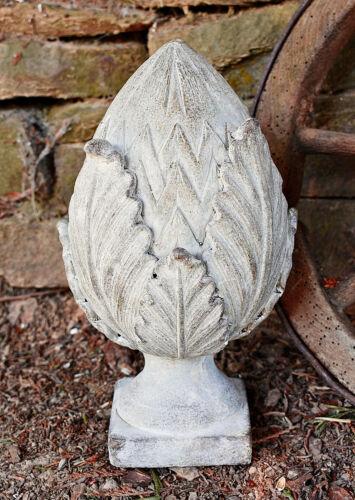 ❀ Pinienzapfe Groß 27 cm Pinie Zapfe Grau Garten Zement Massiv Terrasse #375.0