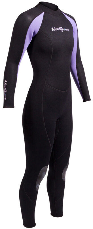 NeoSport 3 2mm Full Womens Jumpsuit Wetsuit  Blk Blk or Blk Pur Size 4-14