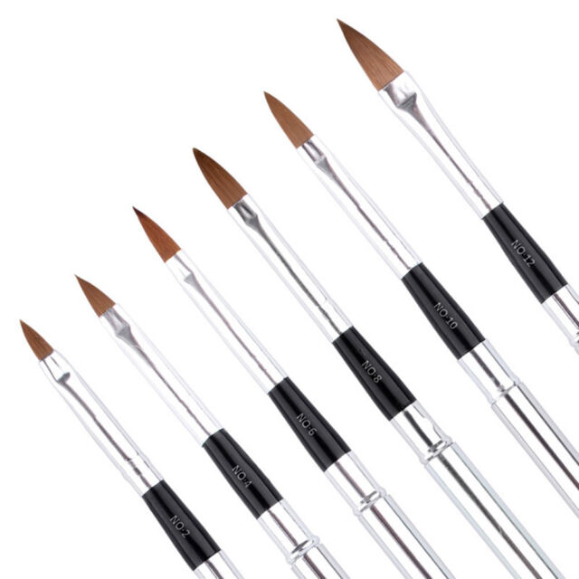 6pcsset Kolinsky Sable Brushes Acrylic Nails Brush Professional