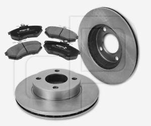 Bremsscheiben-Bremsbelaege-AUDI-80-Avant-B4-ab-Bj-1991-vorne-256-mm-bis-Fgst