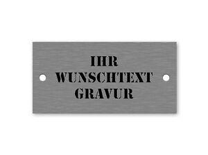 EDELSTAHL TÜRSCHILD inkl GRAVUR Briefkastenschild Klingelschild Mit Extra Kontur