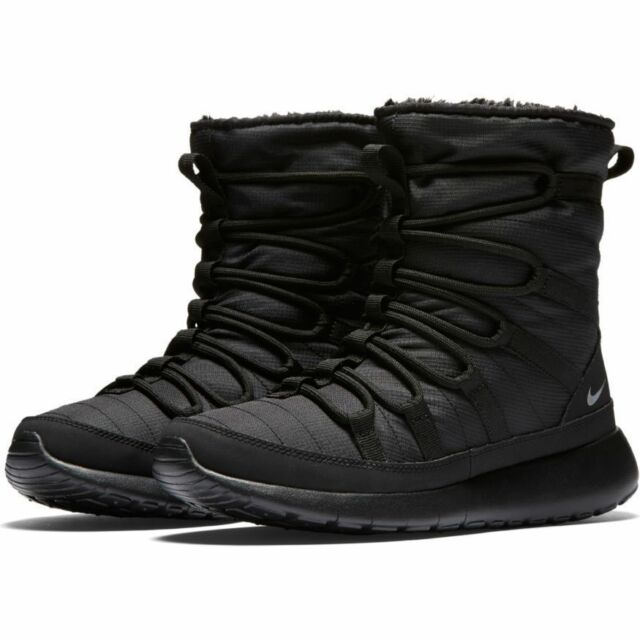 online store 45cef b7199 Nike Roshe One Hi (gs) Size 4 Youth Sneaker Boot Shoe Running Black 807758  001