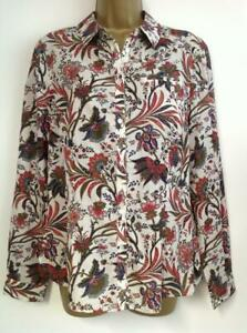MONSOON-SURITA-PRINT-SHIRT-BNWT-multicoloured-RRP-42-Size-12-Or-Size-14