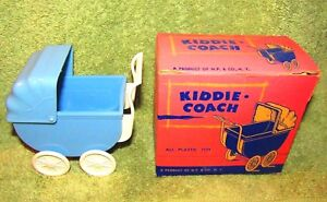 11-BABY-SHOWER-GIFTS-BLUE-BOY-PLASTIC-BABY-STROLLERS-NEW-IN-BOX-VINTAGE-GREAT