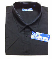 Men's Big Size Casual Short Sleeve Shirts Size 2XL-5XL Black,White and Sky Blue