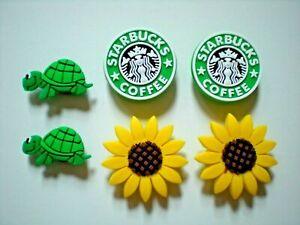 Clog Shoe Charm Button Plug Accessories Bracelet 4 Turtle Coffee