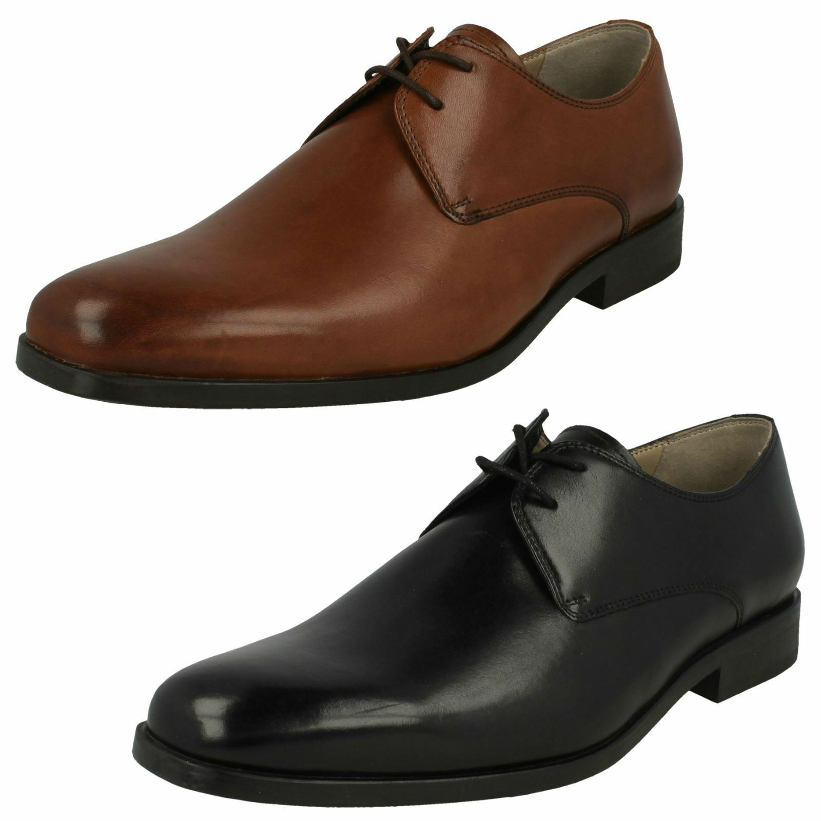 Mens Clarks Formal Leather Lace Up Shoes - 'Amieson Walk'