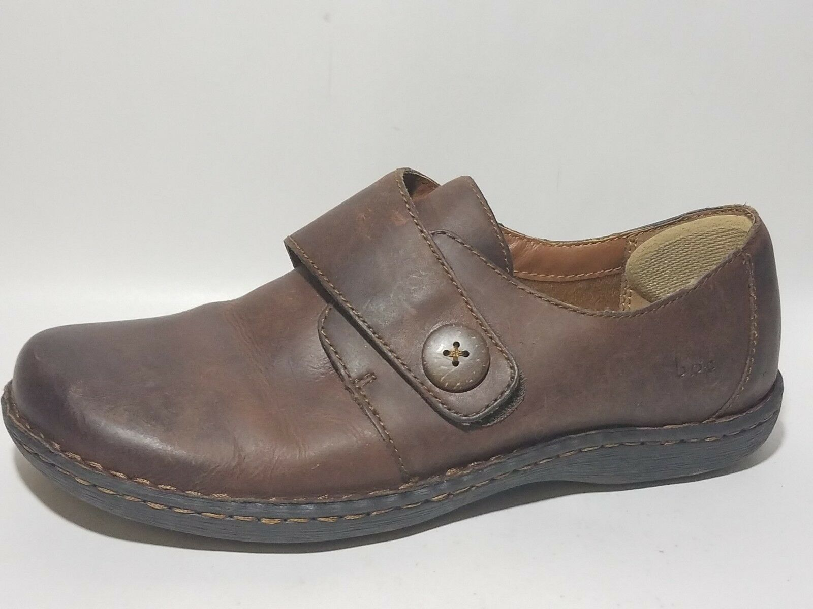 BOC BORN Womens 9.5 M EU 41 Brown Loafers Clogs Casual Work shoes Leather Career