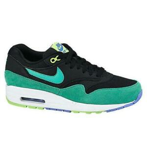 Details about Womens NIKE AIR MAX 1 ESSENTIAL Green Black Trainers 599820 014
