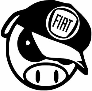 FIAT-ANGRY-PIG-DECAL-CAR-TRUCK-CUSTOM-VINYL-STICKER-10-COLORS