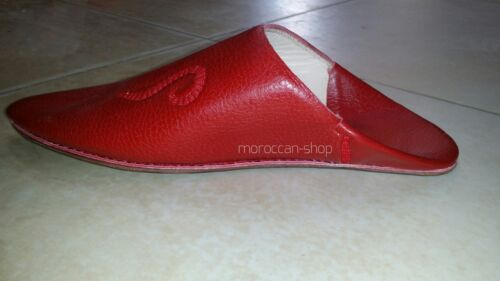 Handmade Leather ORIGINAL Slippers for Men Moroccan Traditional Babouches