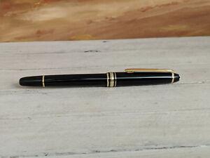Vintage-MONTBLANC-Meisterstuck-Classique-Left-Oblique-144-Fountain-Pen-READ