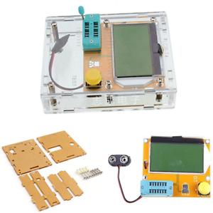 LCR-T4 Mega 328 Probador de transistores diodos triodos capacitancia Medidor de resistencia serie equivalente con cáscara