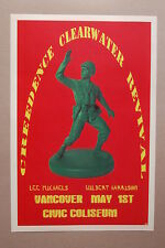 Creedence Clearwater Revival Concert Tour Poster 1971 Vancover Civic Coliseum