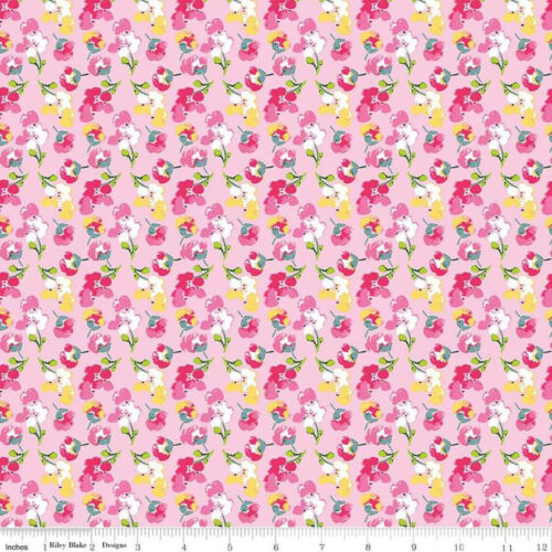 Jubilee Ditzy Bouquets By Riley Blake Cotton Quilting Craft Fabric FQ Meter