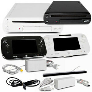 Wii-U-Spielekonsole-8GB-Weiss-amp-32GB-Schwarz-Basic-Premium-Zubehoerpaket