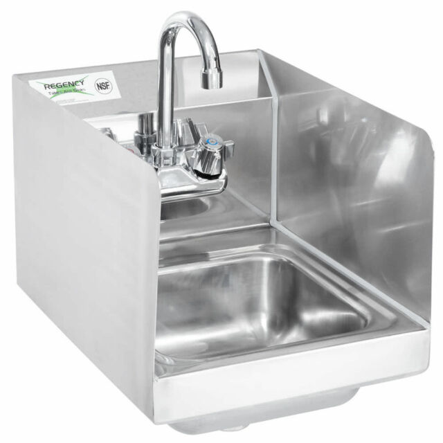 12 x 16 wall mount nsf hand wash sink commercial restaurant stainless steel - Hand Wash Sink