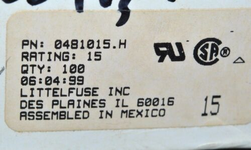 LITTELFUSE rating:15 0481015.H 481 SERIES Alarm Indicating Fuse 10PCS