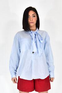 BURBERRY-Camicia-a-Taglio-Largo-In-Cotone-Stile-Classico-Tg-44-Donna-Woman