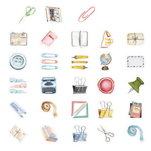 46x-small-item-collection-paper-sticker-diy-diary-decor-for-album-scrapbooking-R