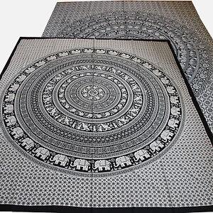 tagesdecke bett berwurf little elephants schwarz wei. Black Bedroom Furniture Sets. Home Design Ideas