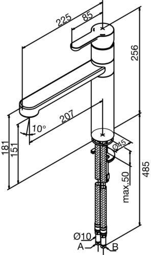 Damixa Willow Spültischarmatur Mischbatterie Stahloptik 35000.66 Steel