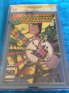 Crisis-on-Infinite-Earths-4-DC-CGC-SS-9-8-NM-MT-Signed-by-George-Perez