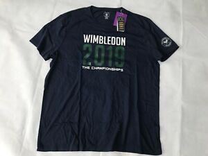 POLO-Ralph-Lauren-manica-corta-Wimbledon-Graphic-T-shirt-uomo-color-navy-taglia-XXL