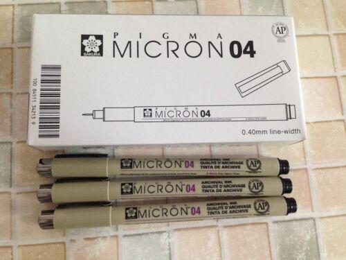 Sakura Pigma Micron Drawing Pen x 12 pcs BLACK  ink Free Postage Made in Japan