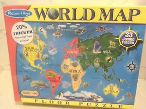 image is loading new melissa amp doug world map jumbo jigsaw