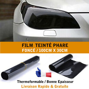 film vinyl teinte phare feux auto voiture scooter moto noir fum e fonc teinte ebay. Black Bedroom Furniture Sets. Home Design Ideas