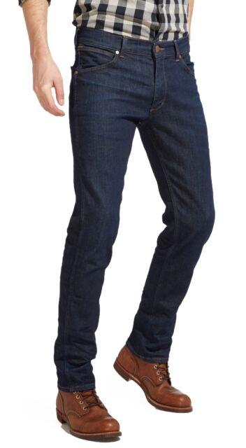 Wrangler Greensboro Regular Modern Straight Tapered Stretch Jeans Rinse Denim