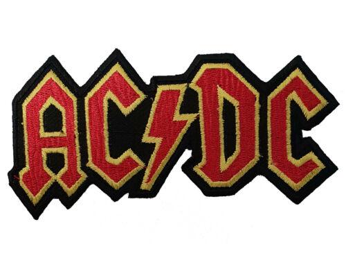Ac//Dc Acdc Brodé Doré à Repasser Patch Heavy Métal Rock Punk Sac à Dos Badge