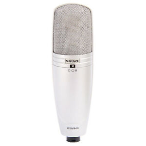 Shure-KSM44A-Multi-Pattern-Large-Dual-Diaphragm-Condenser-Microphone-New