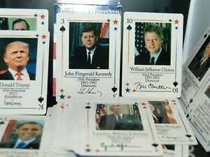 Features All 45 PRESIDENTS OF THE UNITED STATES PLAYING CARDS