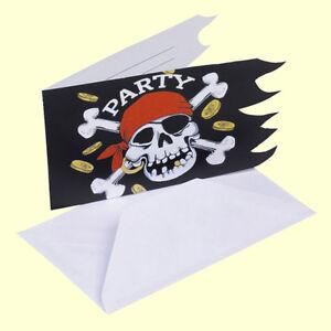 Das Bild Wird Geladen Einladungskarten Pirat  6 Er Einladung Packung Kindergeburtstag Party