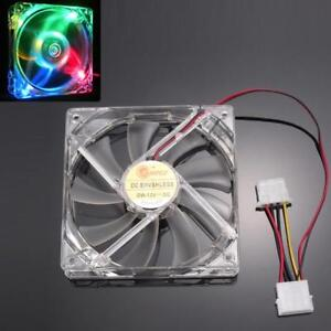 New-Colorful-Quad-4-LED-Light-Neon-Clear-120mm-PC-Computer-Case-Cooling-Fan-Mod