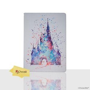 Disney-Fan-Art-PU-Leather-Case-For-Apple-iPad-2-3-4-Folding-Folio-Cover-Castle