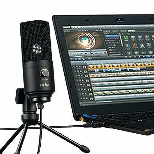 USB-Mikrofon Metall Kondensatormikrofon für PC/Laptop Aufnahmemikrofon Kardioid