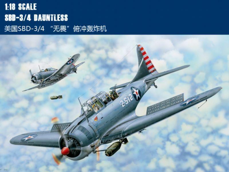 Merit 61801 1 18 SBD-3 4 Dauntless Dive Bomber model kit