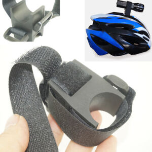 Bicycle Bike Torch Mount Head Front Bracket Flashlight Holder Rubber Band/_EC