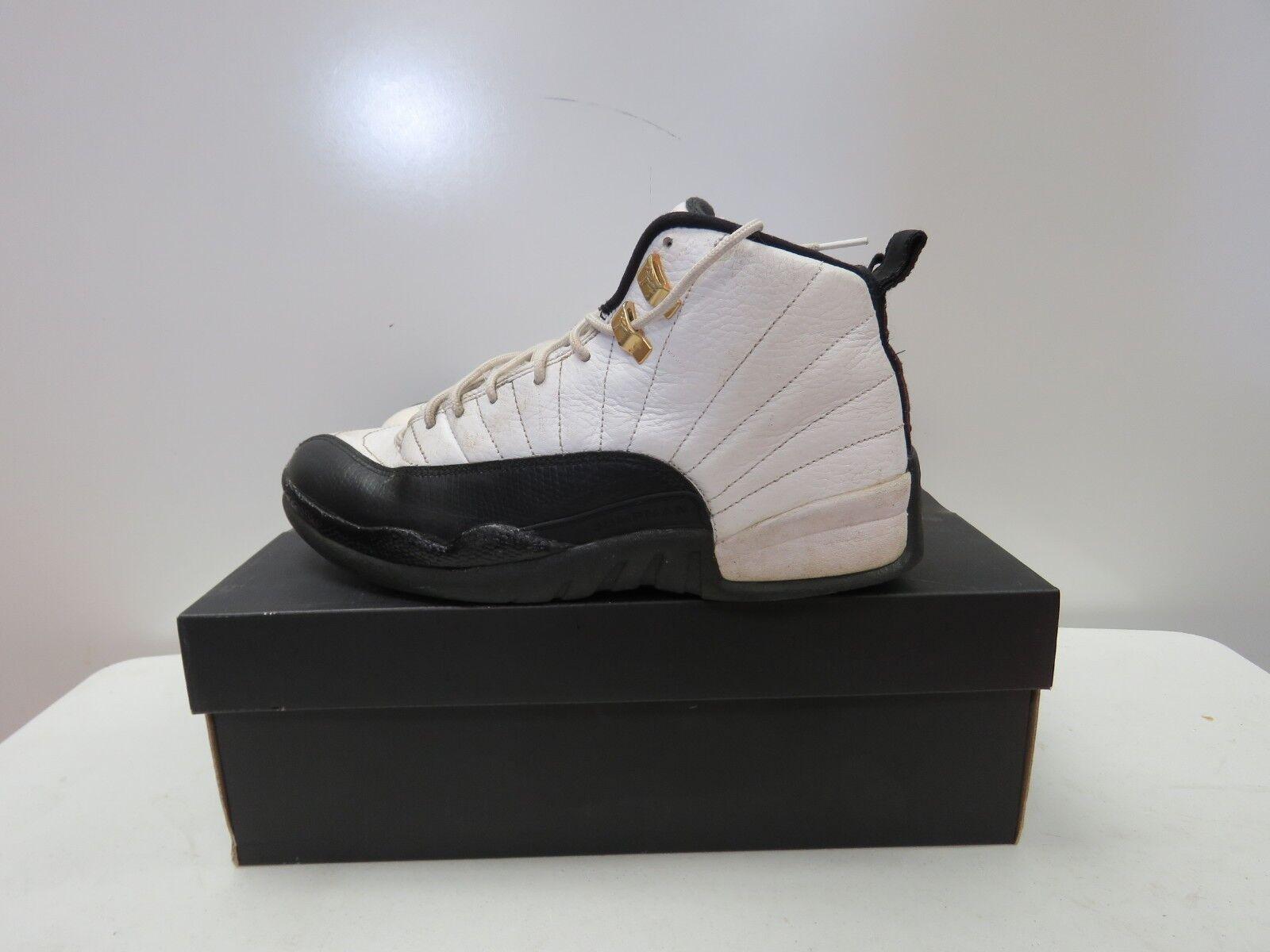 Nike Air Jordan XII 12 Retro BLACK WHITE TAXI RED 130690-125 Size 8 i147K