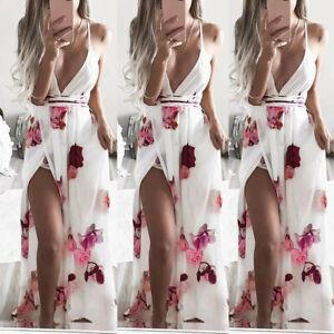 Womens-Summer-Boho-Maxi-Dress-Evening-Cocktail-Party-Beach-Dresses-Sundress-Long