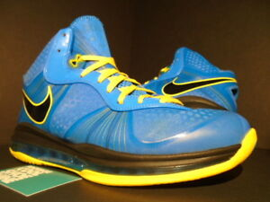 info for 4bf46 0b3d6 NIKE AIR MAX LEBRON VIII 8 V/2 ENTOURAGE PHOTO BLUE BLACK YELLOW ...