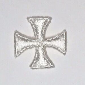 Cuadrado-Maltes-Cruz-Bordado-para-Coser-Blanco-Crudo-1-034-Emblema-Parches-12-Pieza