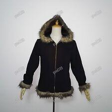Anime Durarara!! Izaya Orihara Cosplay Costume hooded Coat Jacket