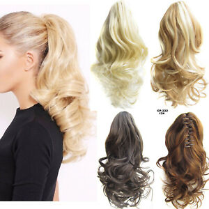 1-2Pcs-Ponytail-Clip-in-Hair-Extensions-Claw-On-Pony-Tail-Real-Thick-for-Women