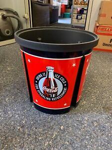 Coca-Cola-Plastic-Bucket-Tonne-15-3-8in-Top-Condition