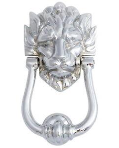 """Chrome Tête de Lion Heurtoir (9""""-23cm) Numéro 10 Downing Street DOOR KNOCKERS-afficher le titre d`origine 23CRcqC6-07193738-991907857"""