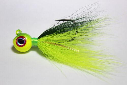 DISCOUNTS-FREE SHIPPING 1 S/&S Big Eye Bucktail Jig 1//4 oz El Loco